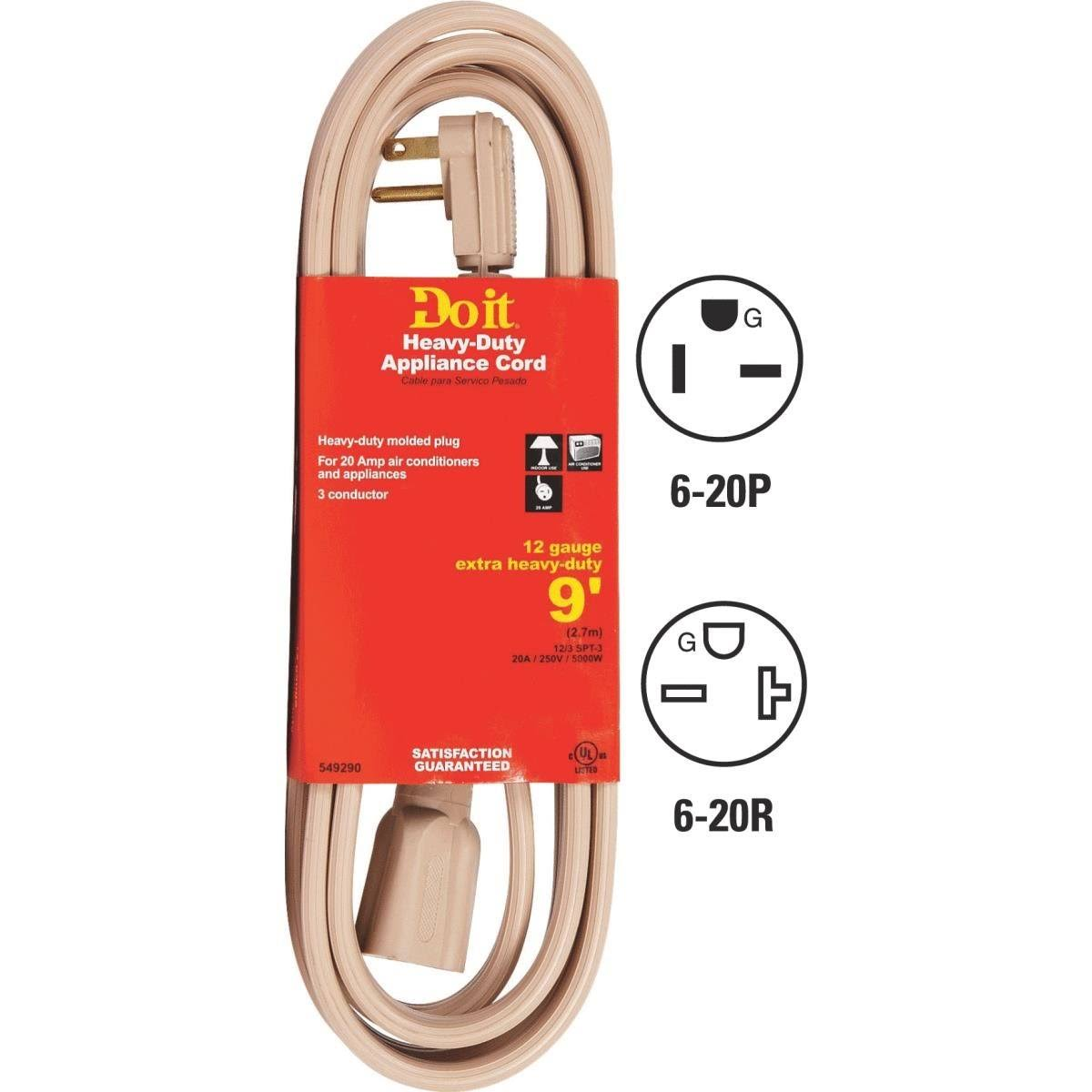 Do It Best Beige Appliance Cord - 9ft