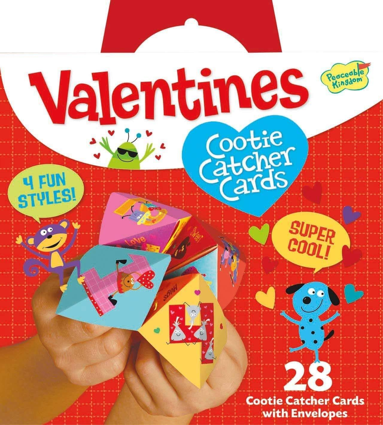 Peaceable Kingdom Valentine Cootie Catcher 28 Card Super Pack