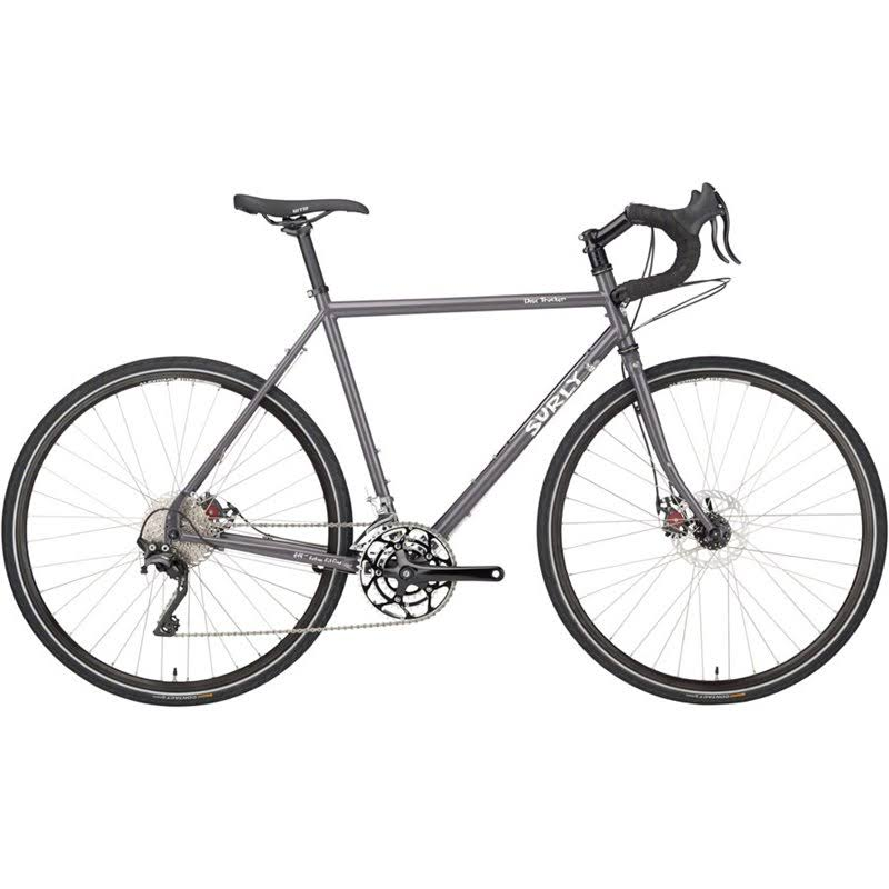 Surly Disc Trucker Bike 60cm 700c Gray-Bituminous