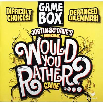 Cardinal Games Justin and Dave's Awesome Would You Rather? Game Box