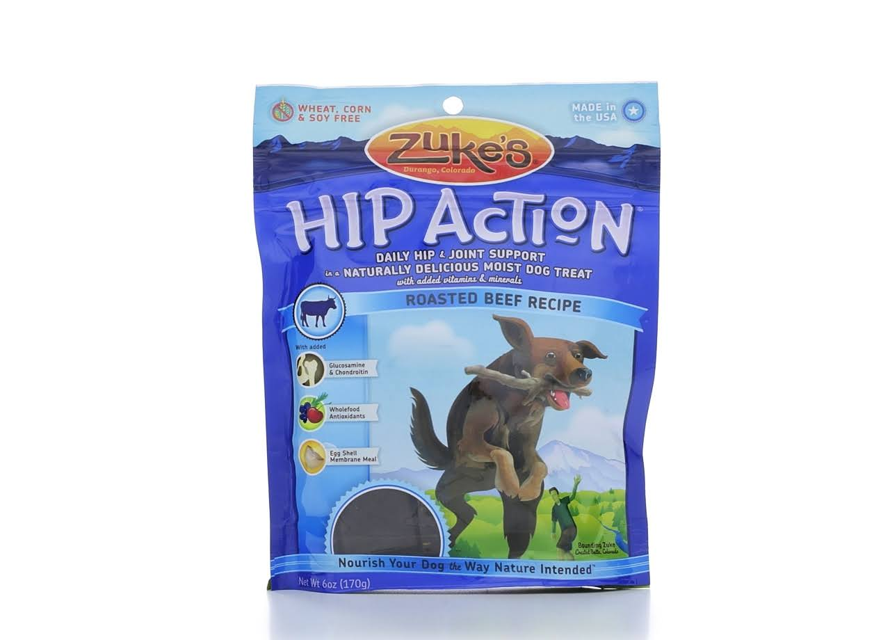 Zuke's Hip Action Natural Dog Treats - Roasted Beef