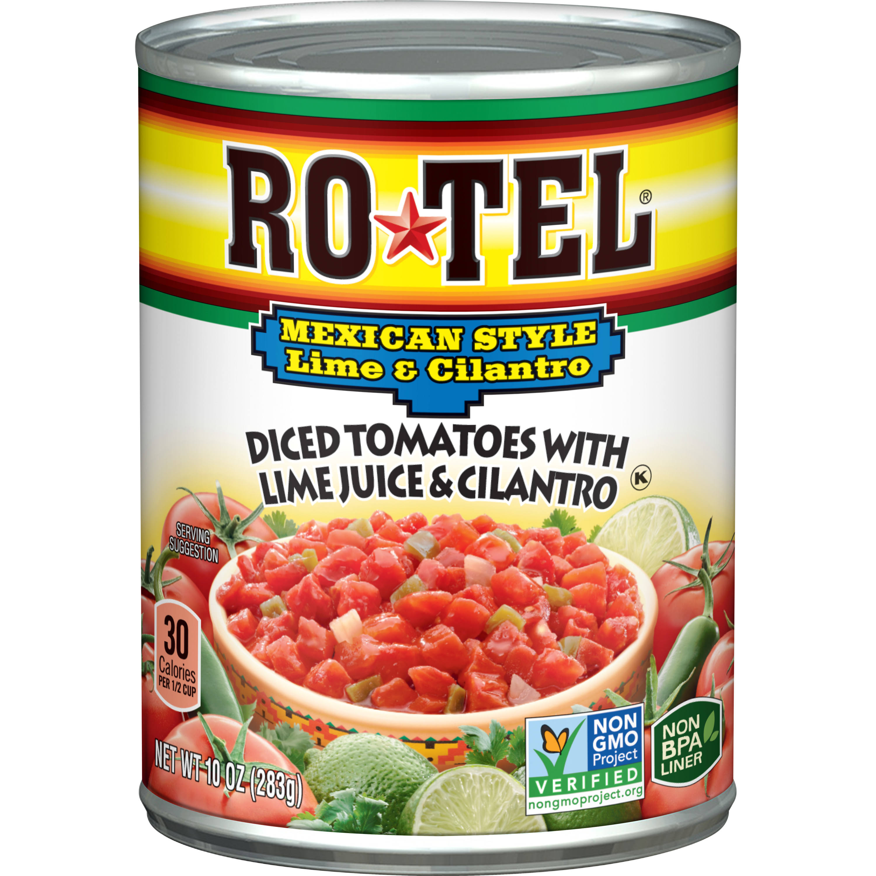 Ro-Tel Mexican Style Lime and Cilantro Diced Tomatoes - 10oz