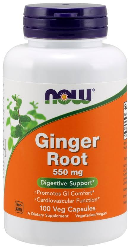 NOW Foods Ginger Root Supplement - 100 Capsules