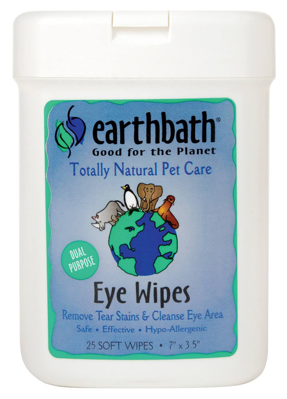 Earthbath Pet Eye Wipes - 25 Soft Wipes