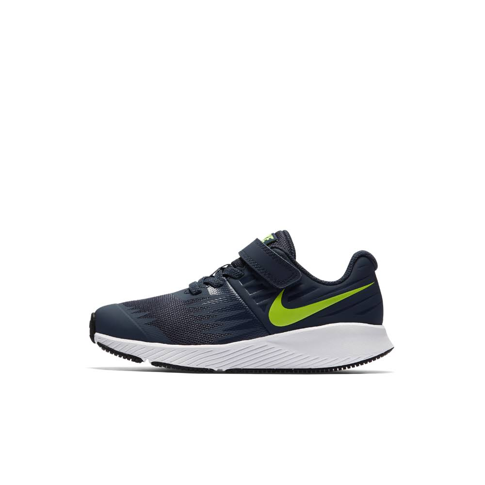 Nike Kids' Star Runner PSV Running Shoe - Thunder Blue Volt, 3 US