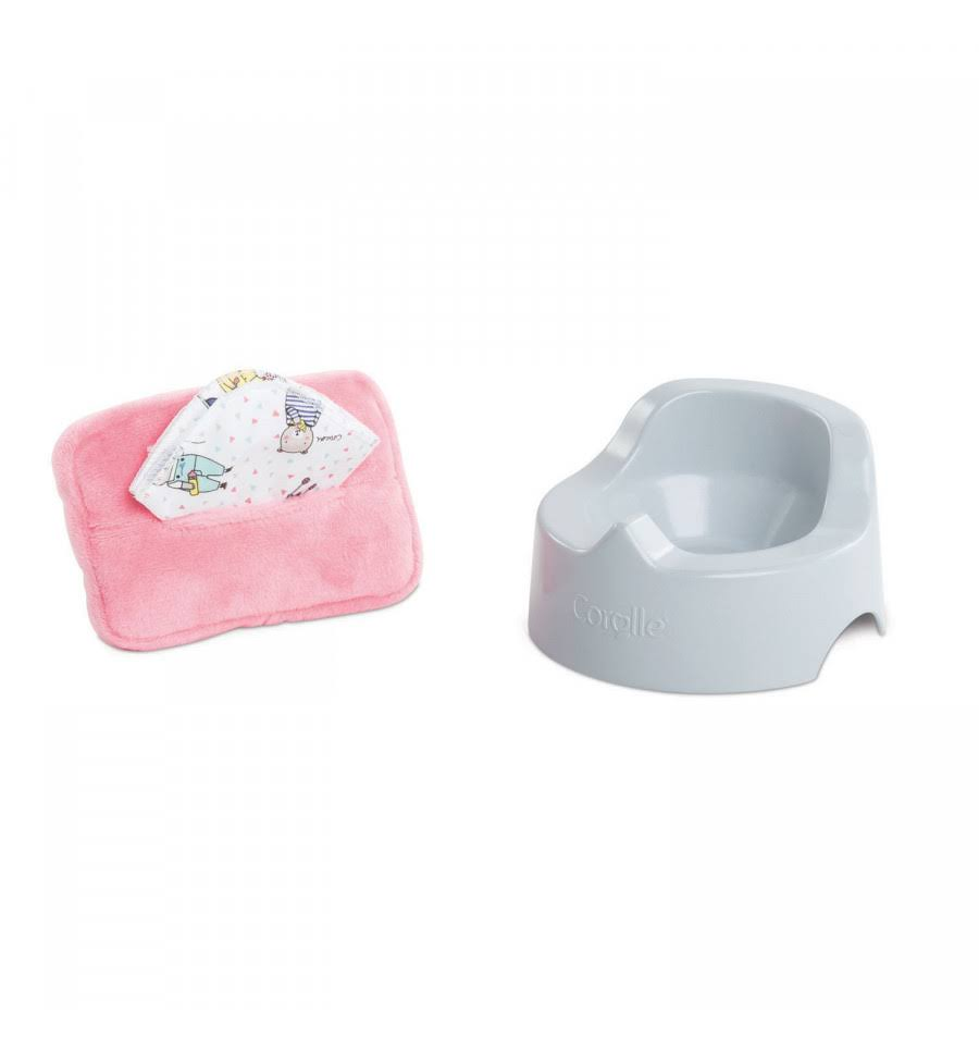 Corolle Dolls Potty and Baby Wipe