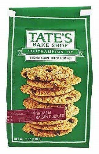 Tates Bake Shop Cookies, Oatmeal Raisin - 7 oz
