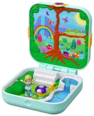 Polly Pocket Hidden Hideouts Flutteriffic Forest Set