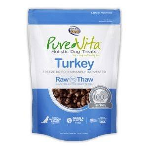 PureVita Freeze Dried 100% Turkey Dog Treats 2.2 oz