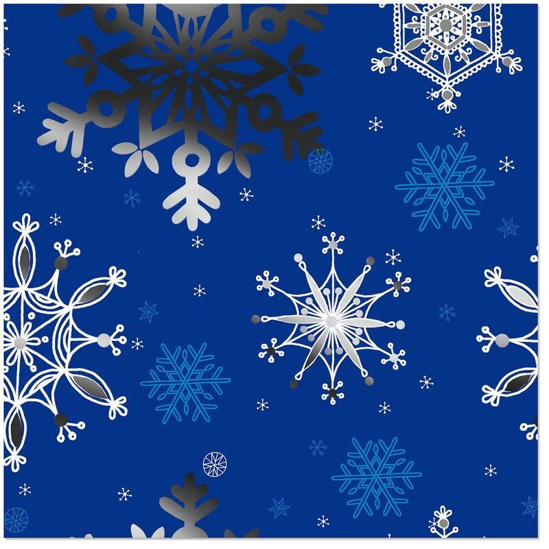 Snowflakes on Blue Jumbo Roll Wrapping Paper, 100 Sq. ft.