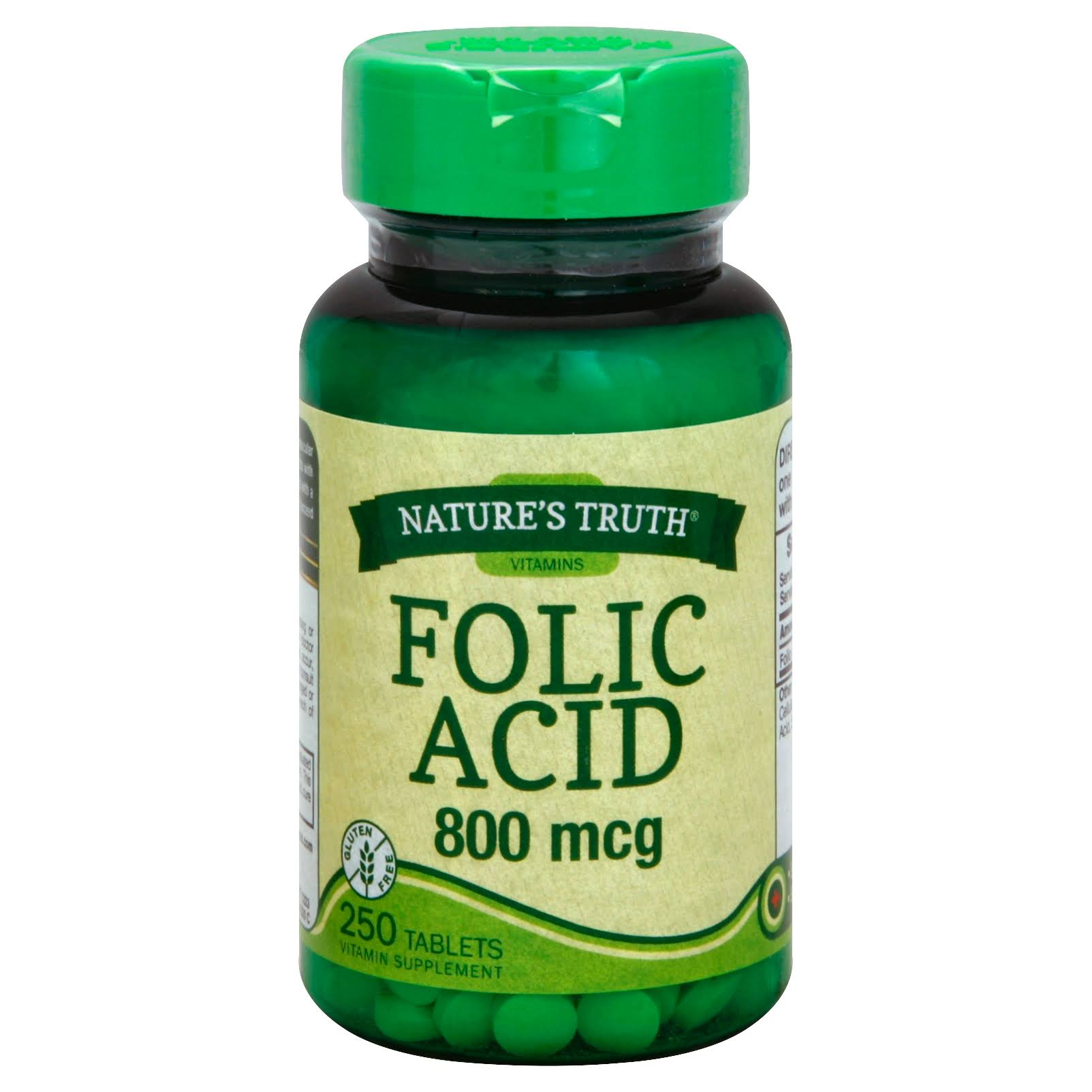Nature's Truth Folic Acid Herbal Supplement - 250 Count