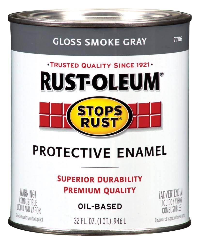 Rust-Oleum Stops Rust Oil-Based Protective Enamel - .946l, Gloss Smoke Gray