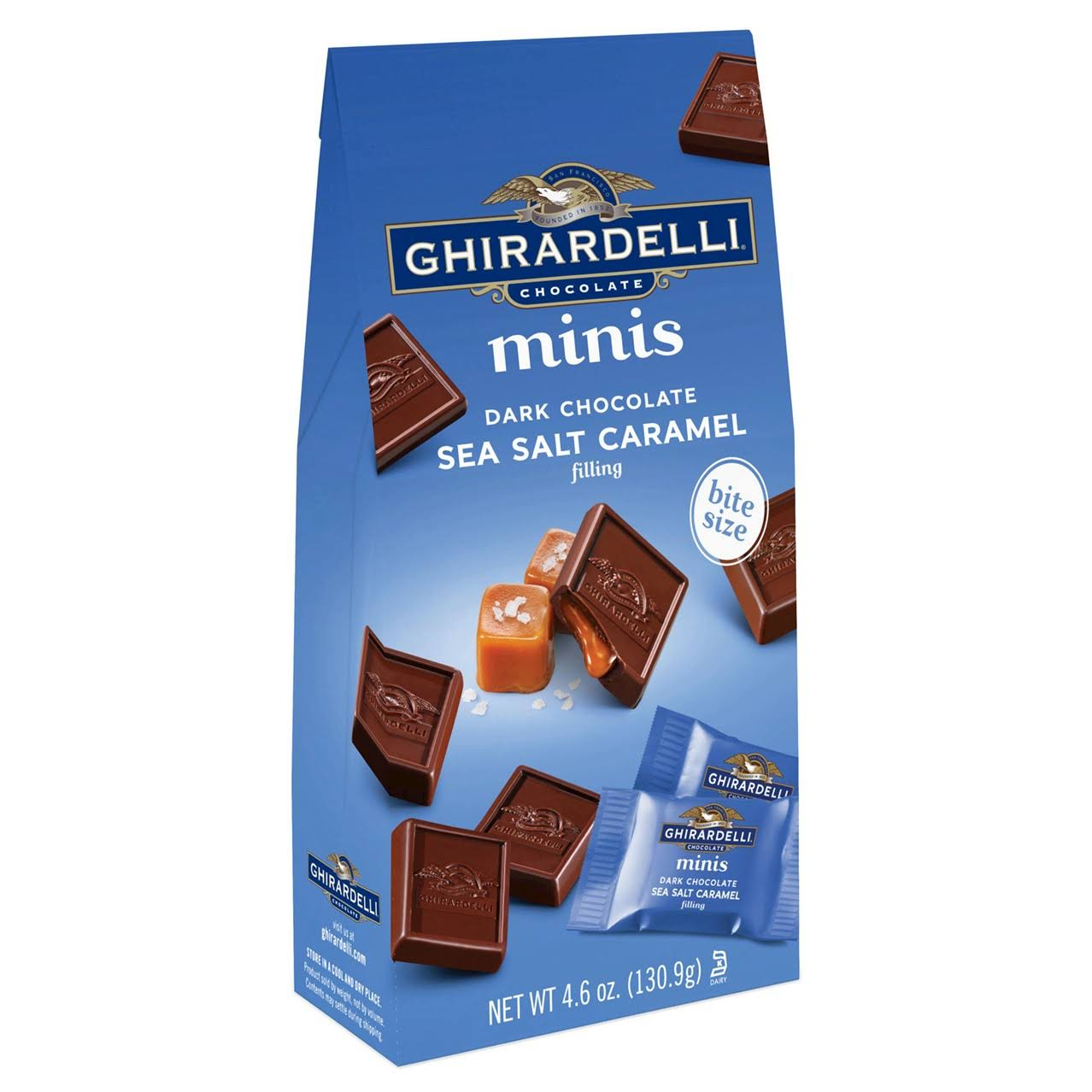 Ghirardelli Sea Salt Caramel Dark Chocolate - 4.6oz