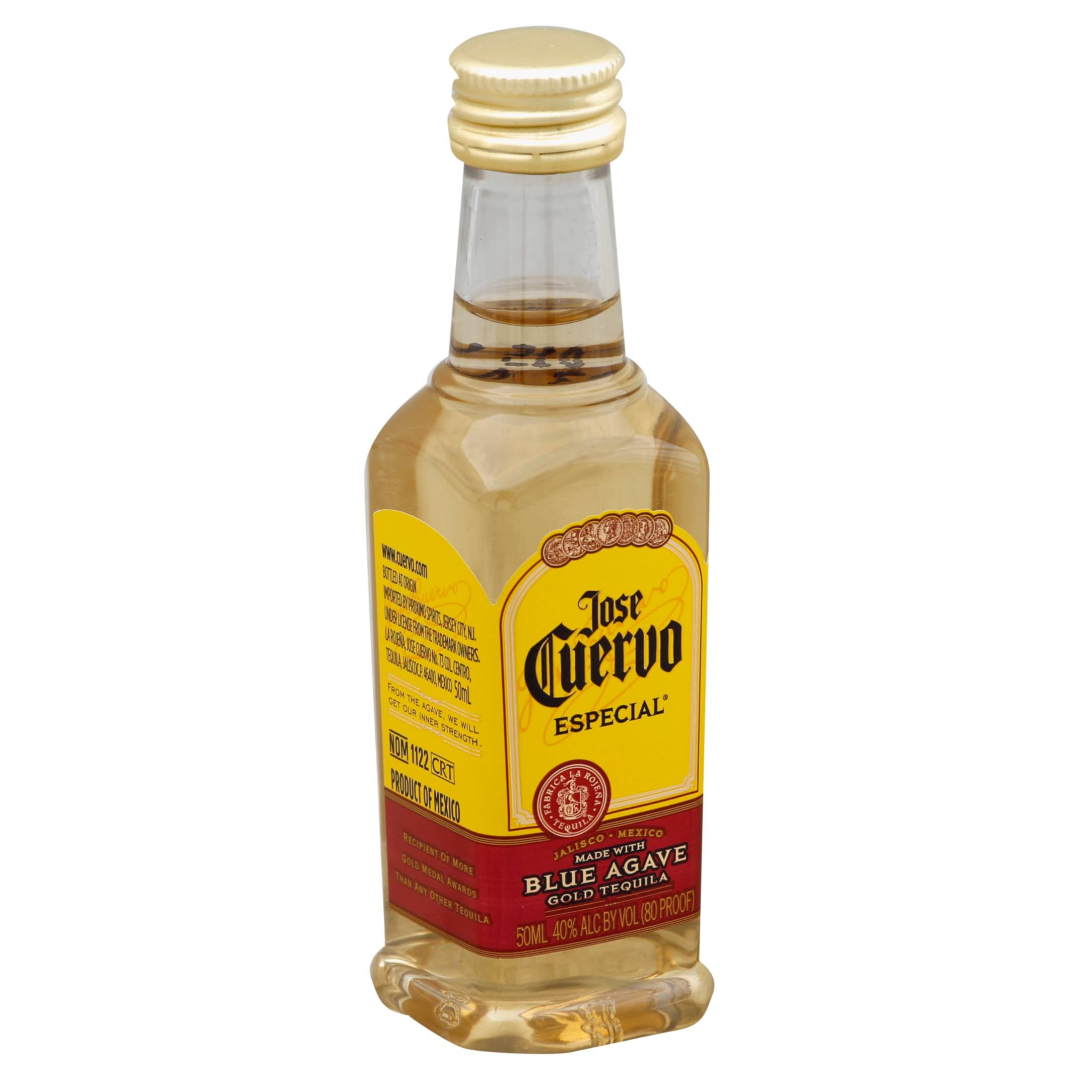 Jose Cuervo Especial Tequila, Gold - 50 ml