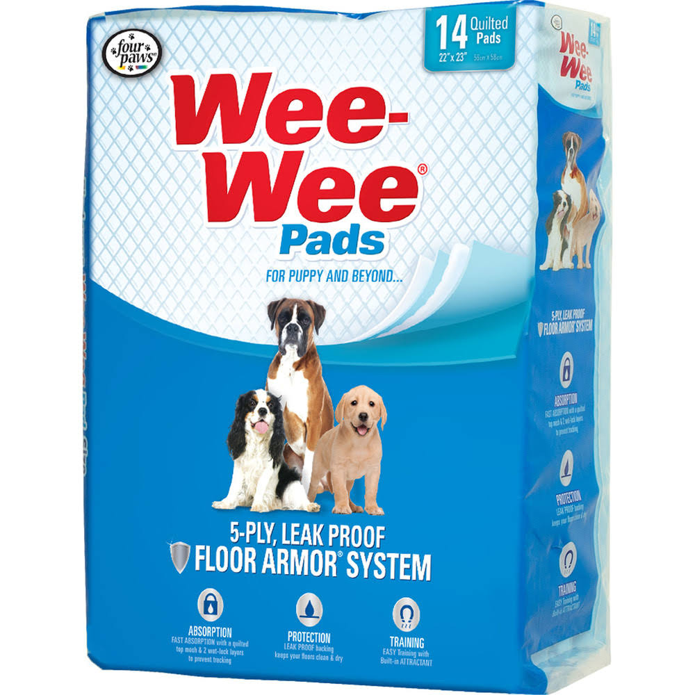 Four Paws Wee Wee Housebreaking Pads - 150 Pack