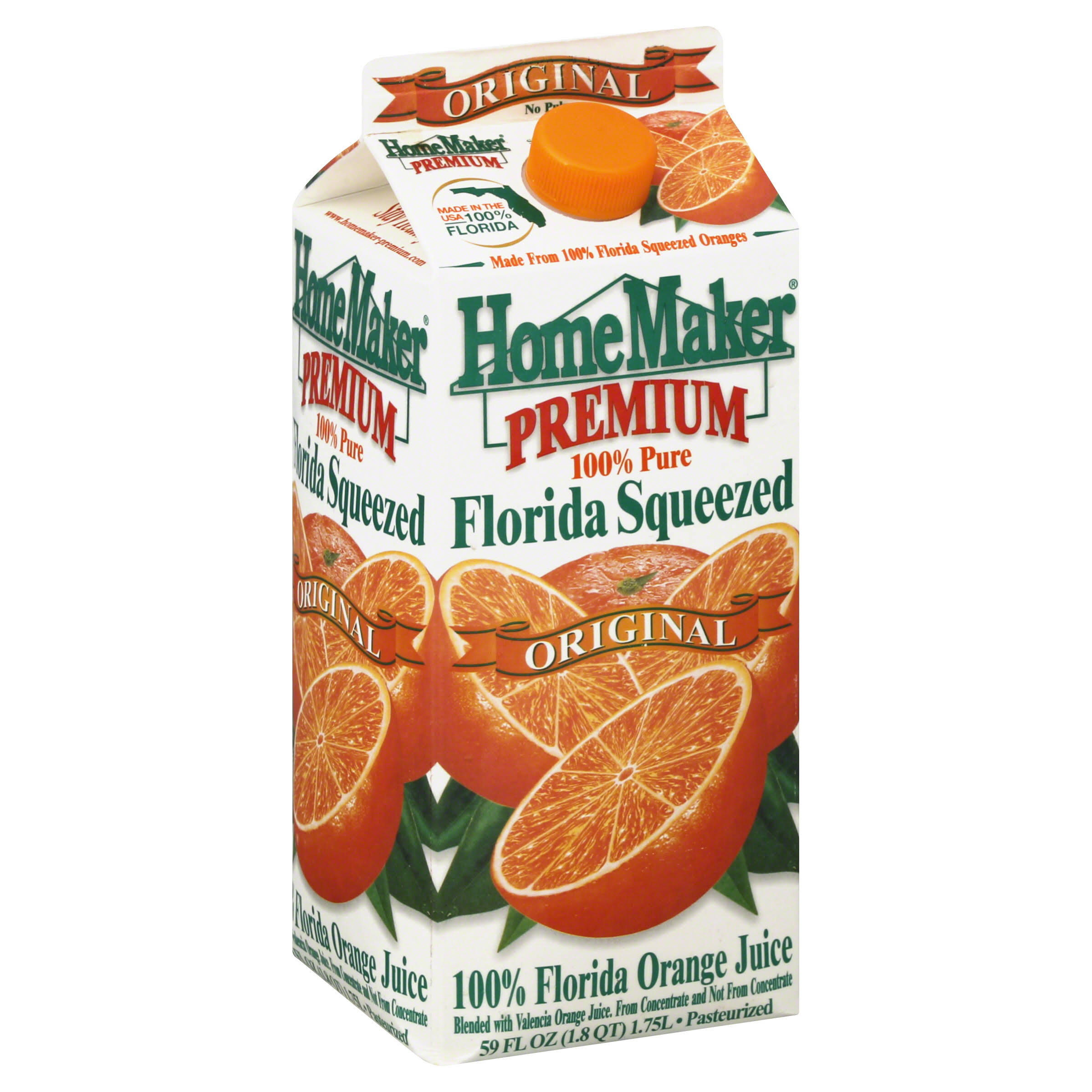 HomeMaker Premium Florida Squeezed Original Orange Juice - 59oz