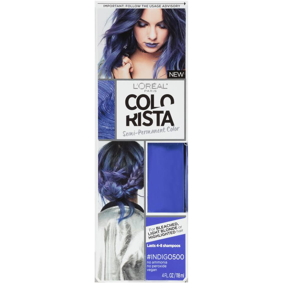 LOreal Paris Colorista Semi Permanent Hair Color - Indigo, 4oz