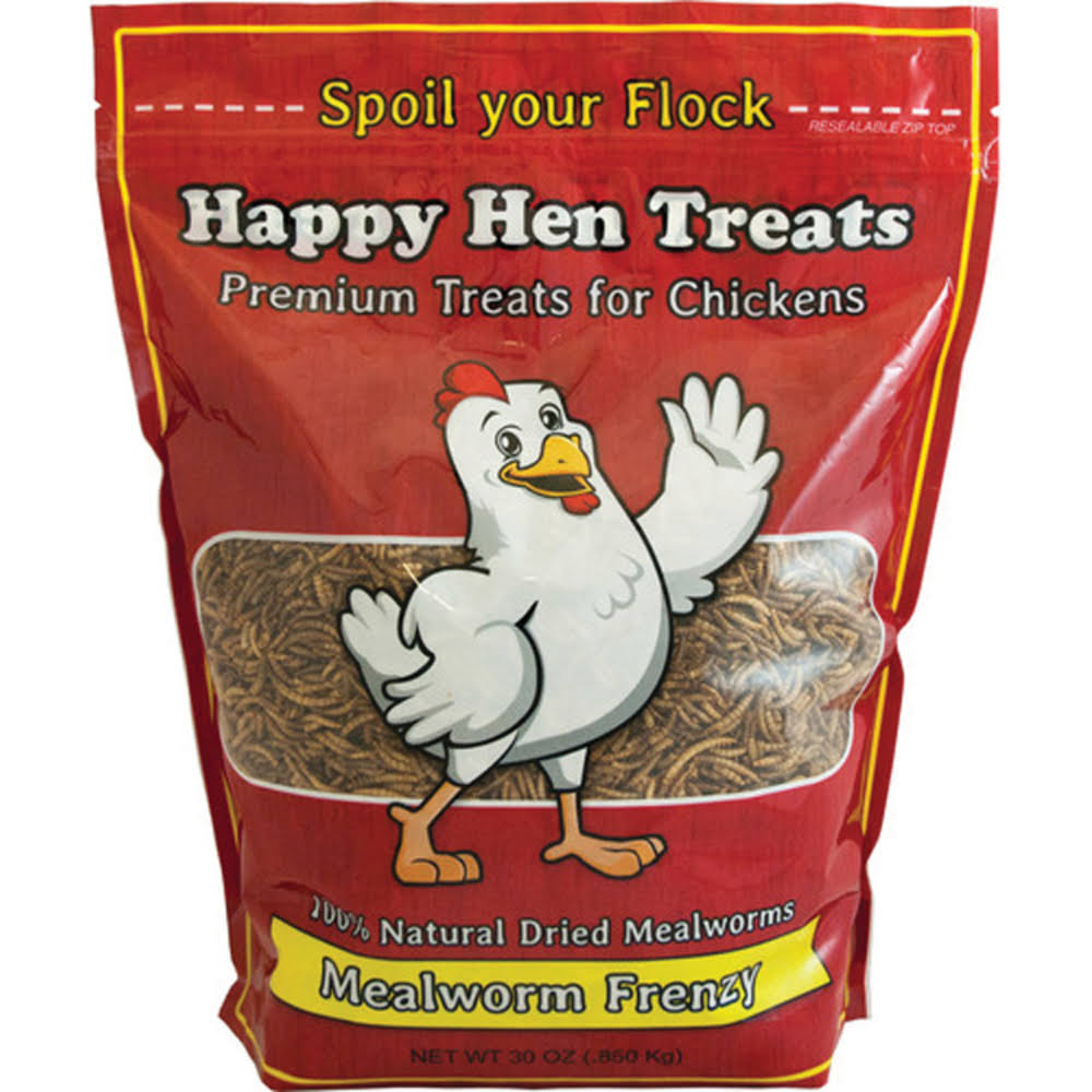 Happy Hen Treats Mealworm Frenzy Chicken Treat - 30oz