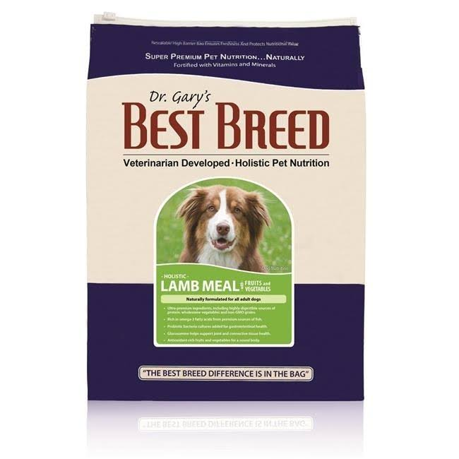 Dr. Gary's Best Breed Holistic Lamb Meal with Fruits & Vegetables Dry Dog Food 15-lb