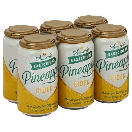 Austin East Ciders Pineapple Cider, 12 fl oz