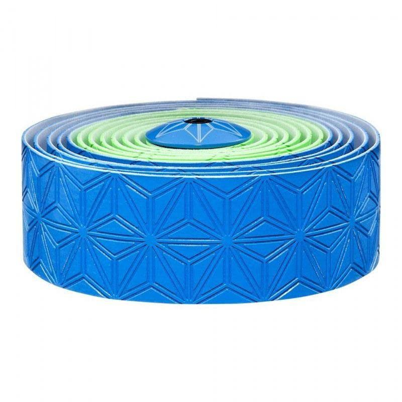 Supacaz Super Sticky Kush Bar Tape - Neon Green / Neon Blue