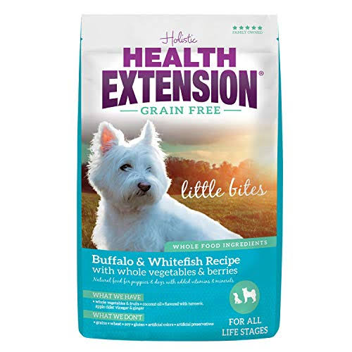 Health Extension 587174 Grain-Free Little Bites Pet Food - Buffalo and Whitefish Formula, 10lbs