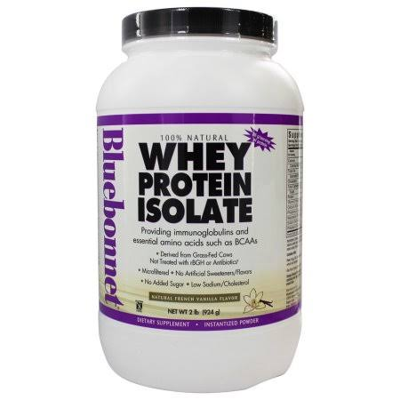 Blue Bonnet Whey Protein Isolate Powder - French Vanilla, 924g
