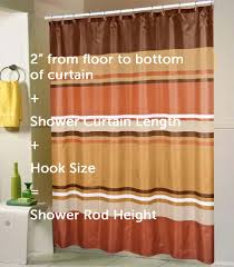 No Drill Window Curtain Rod by A Standard Shower Curtain Size Guide Linen Store