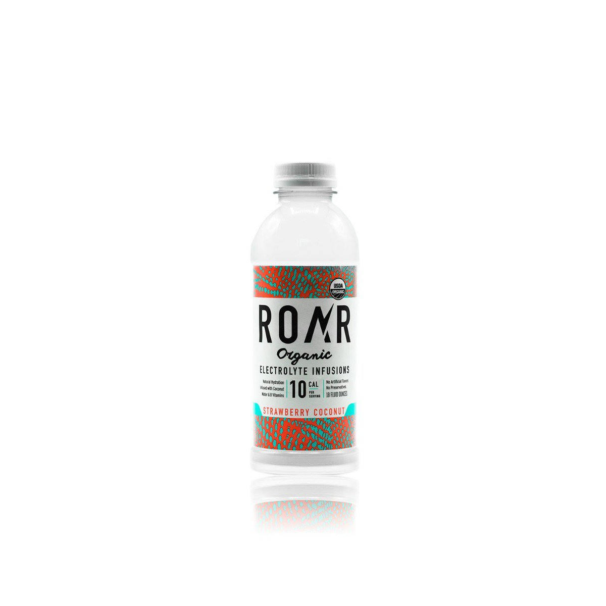 Roar Organic Electrolyte Infusions, Strawberry Coconut - 18 fluid ounces