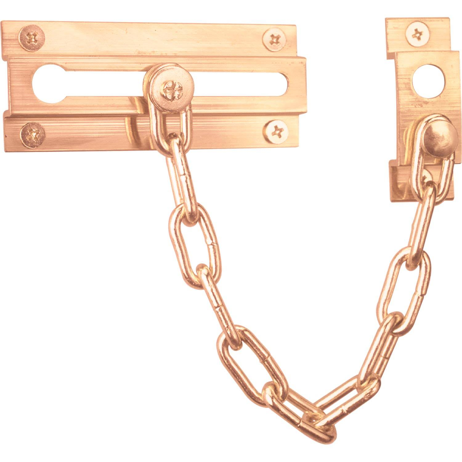 Prime-Line Products U 9907 Chain Door Guard - Steel Chain, Solid Brass