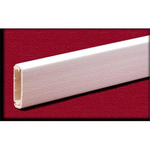 Wiremold Company Plastic Wire Channel - White, 5ft