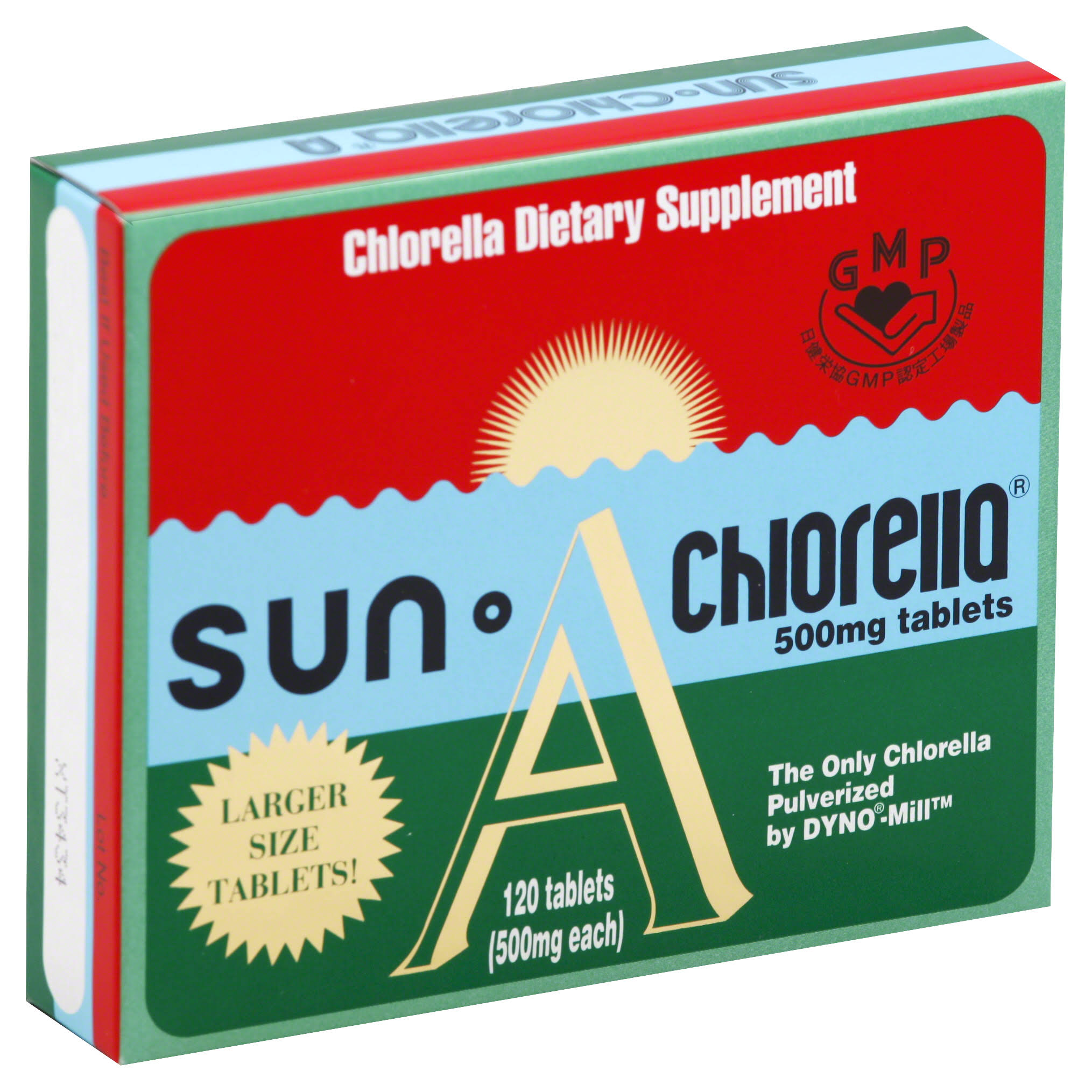 Sun Chlorella 500 Mg Dietary Supplement - 120 Tablets
