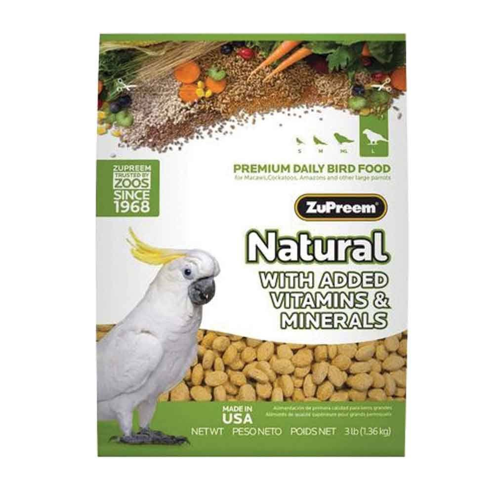 ZuPreem Natural Complete Bird Food - Large, 3lb