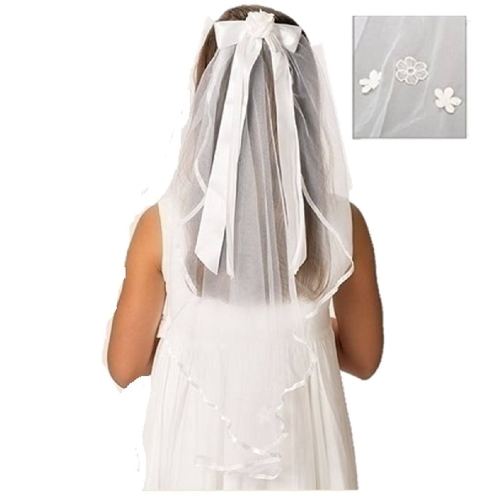 First Communion Veil Charlotte 25""