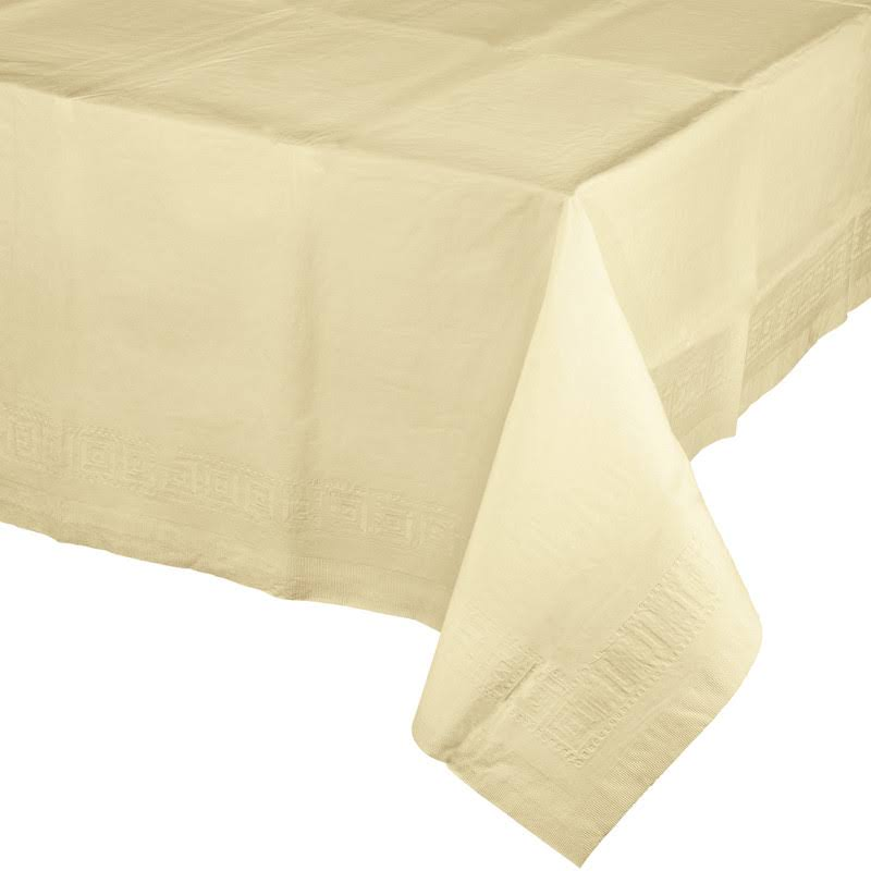 "Creative Converting Paper Banquet Table Cover - Ivory, 54"" x 108"""