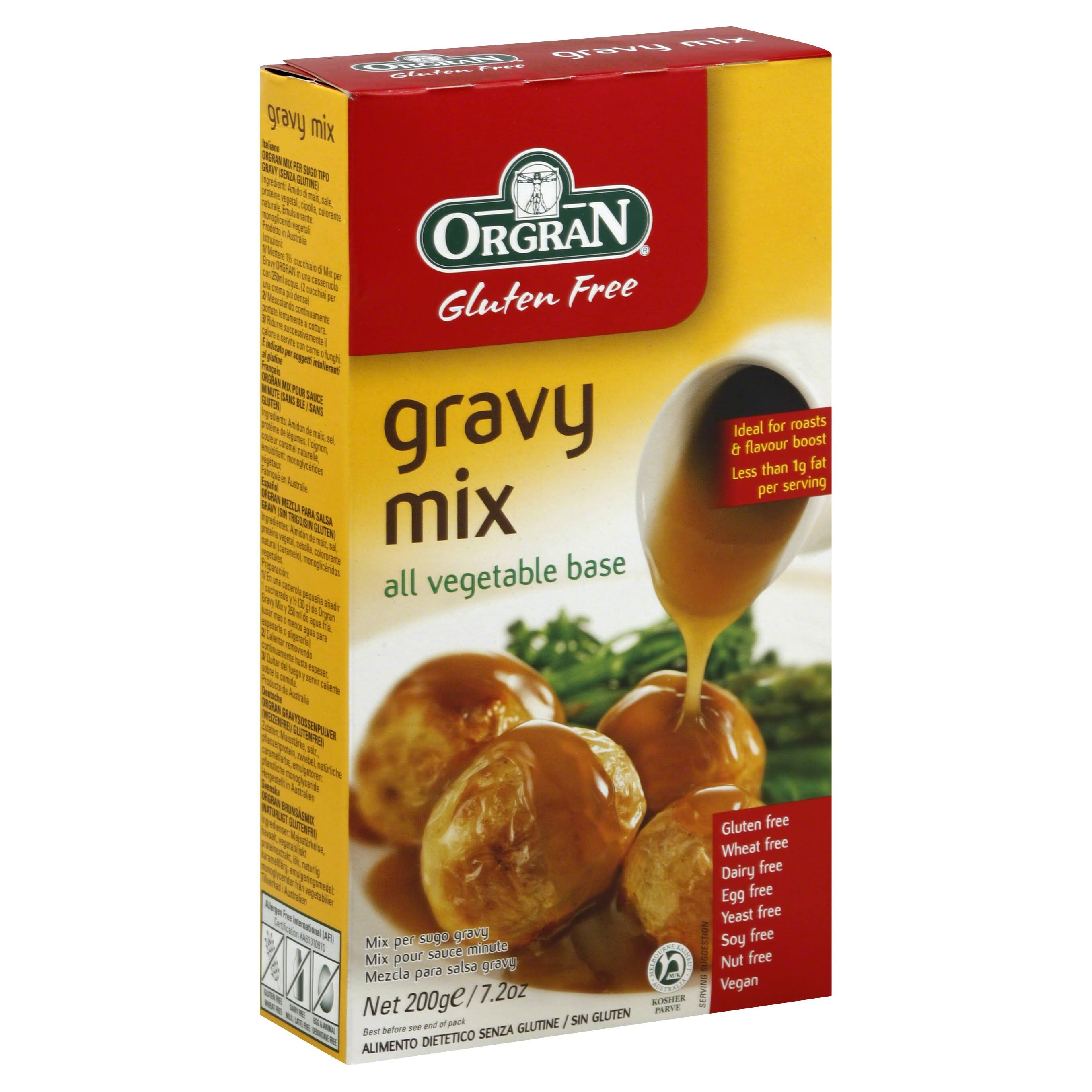 Orgran Health and Nutrition Gluten Free Vegetable Gravy Mix - 200g