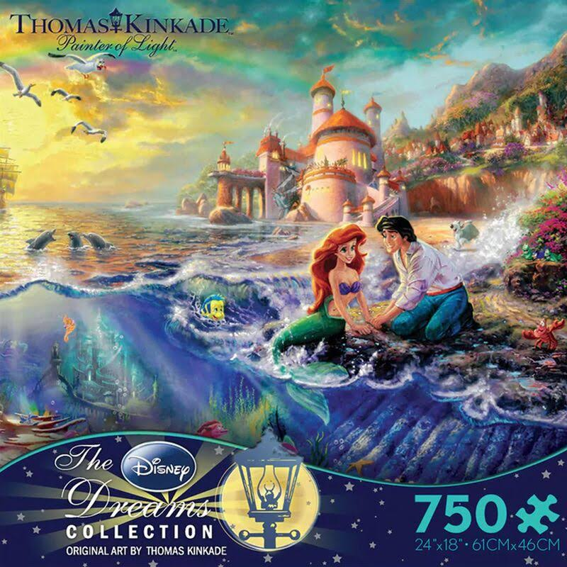 Thomas Kinkade Disney Dreams Collection The Little Mermaid Jigsaw Puzzle