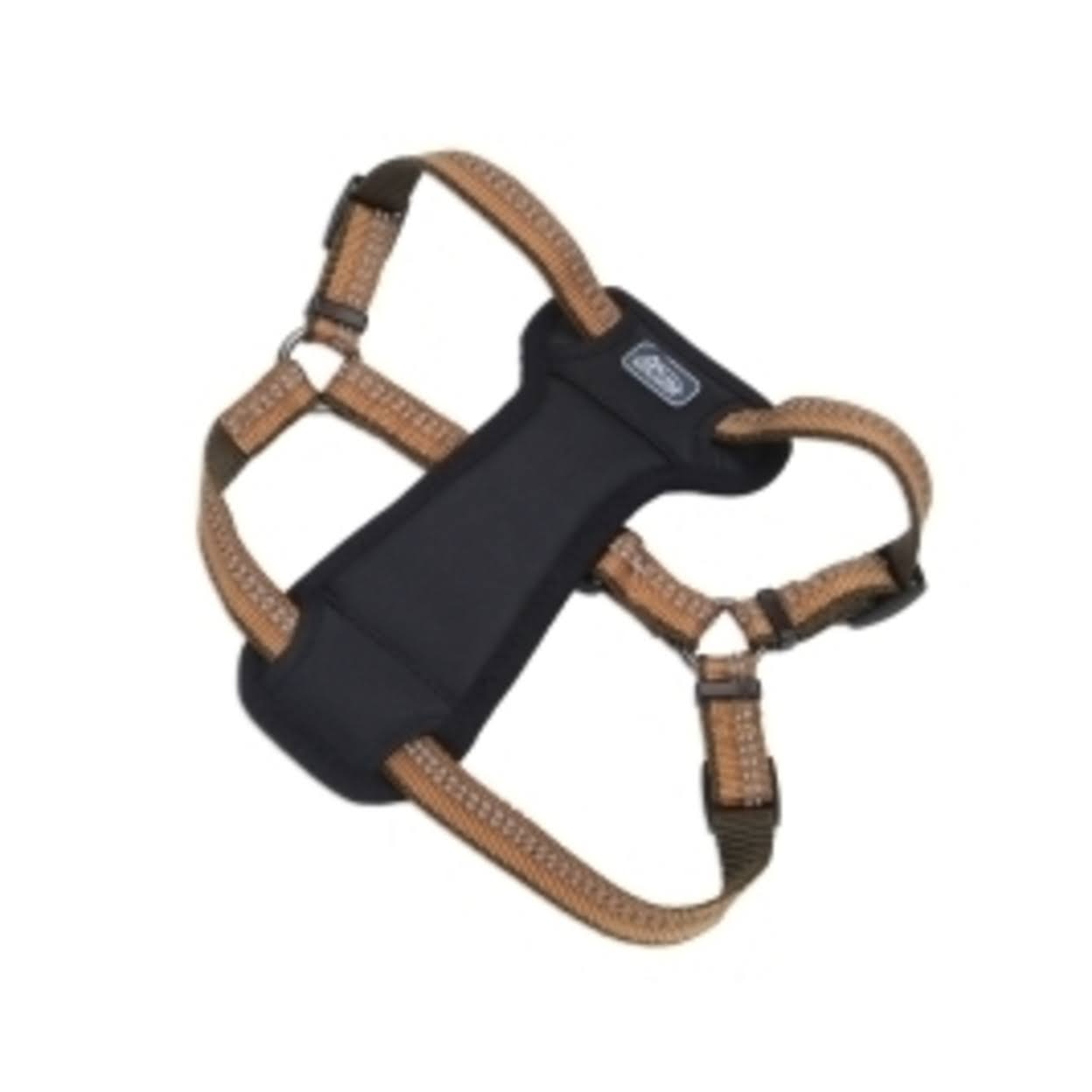 "Coastal K9 Explorer Padded Harness - 1"", Camp Fire Orange, 20-30"""