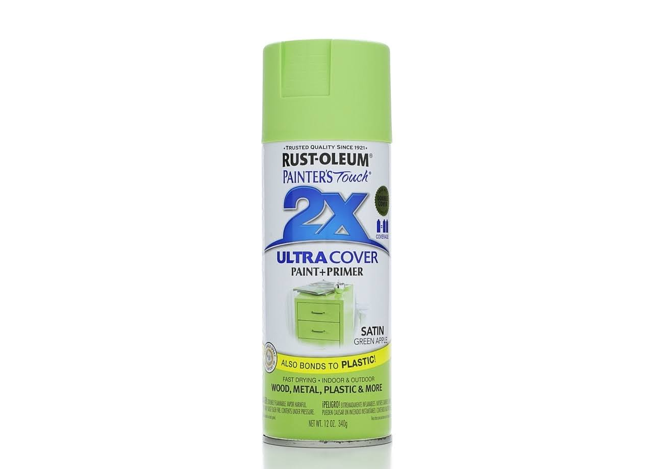 Rust-Oleum Painter's Touch Spray Paint - Satin Green Apple, 12oz