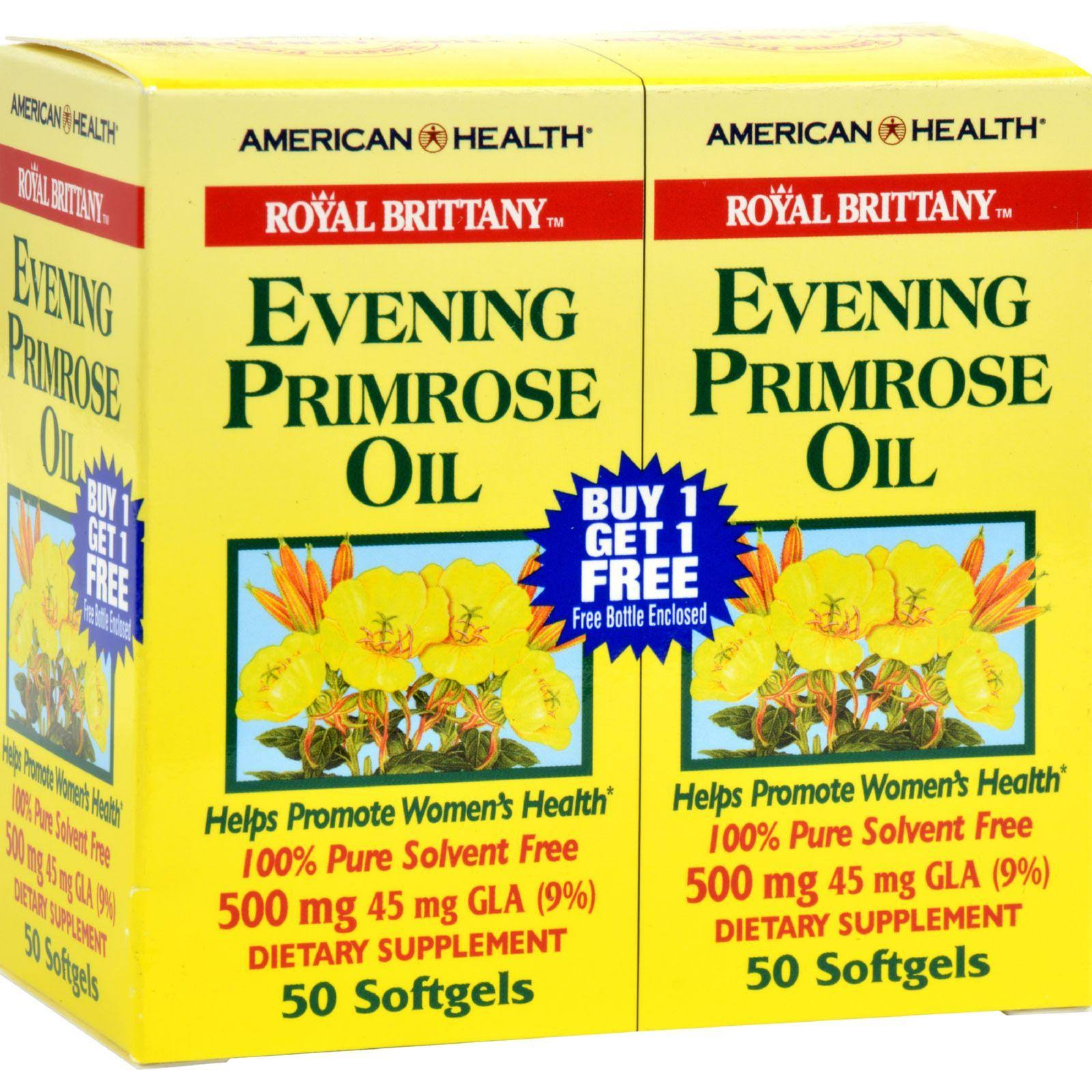 American Health Royal Brittany Evening Primrose Oil - 500 mg, 50 softgels