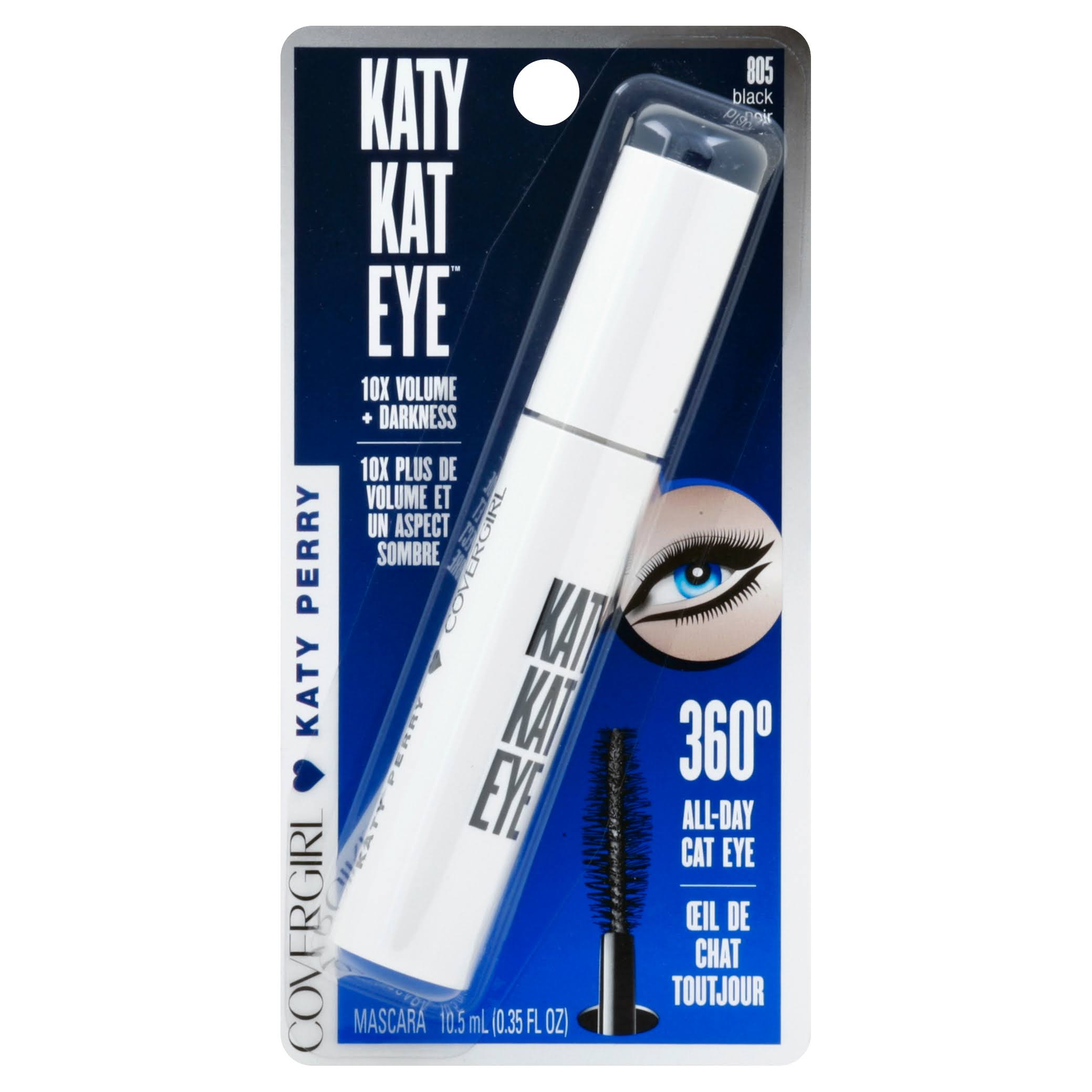 Cover Girl Katy Kat Eye Mascara - Black Noir 805