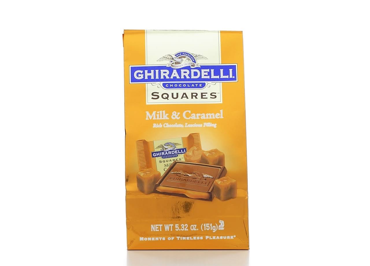 Ghirardelli Milk Chocolate and Caramel Squares - 5.32oz