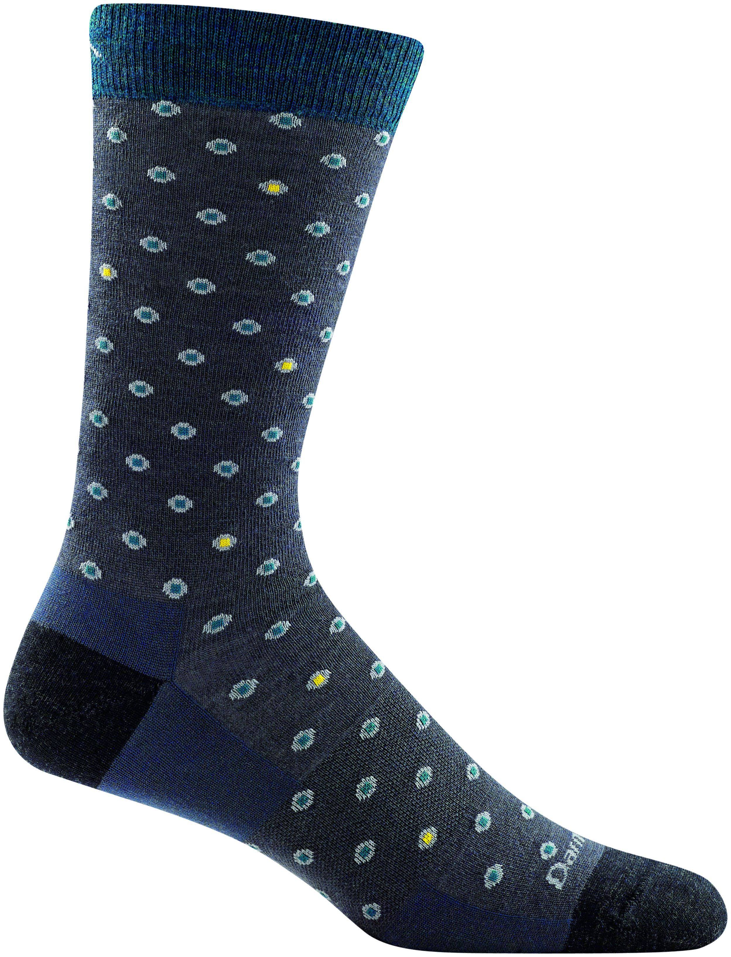 Darn Tough Fish Eye Crew Light Socks - Men's Gray / XL