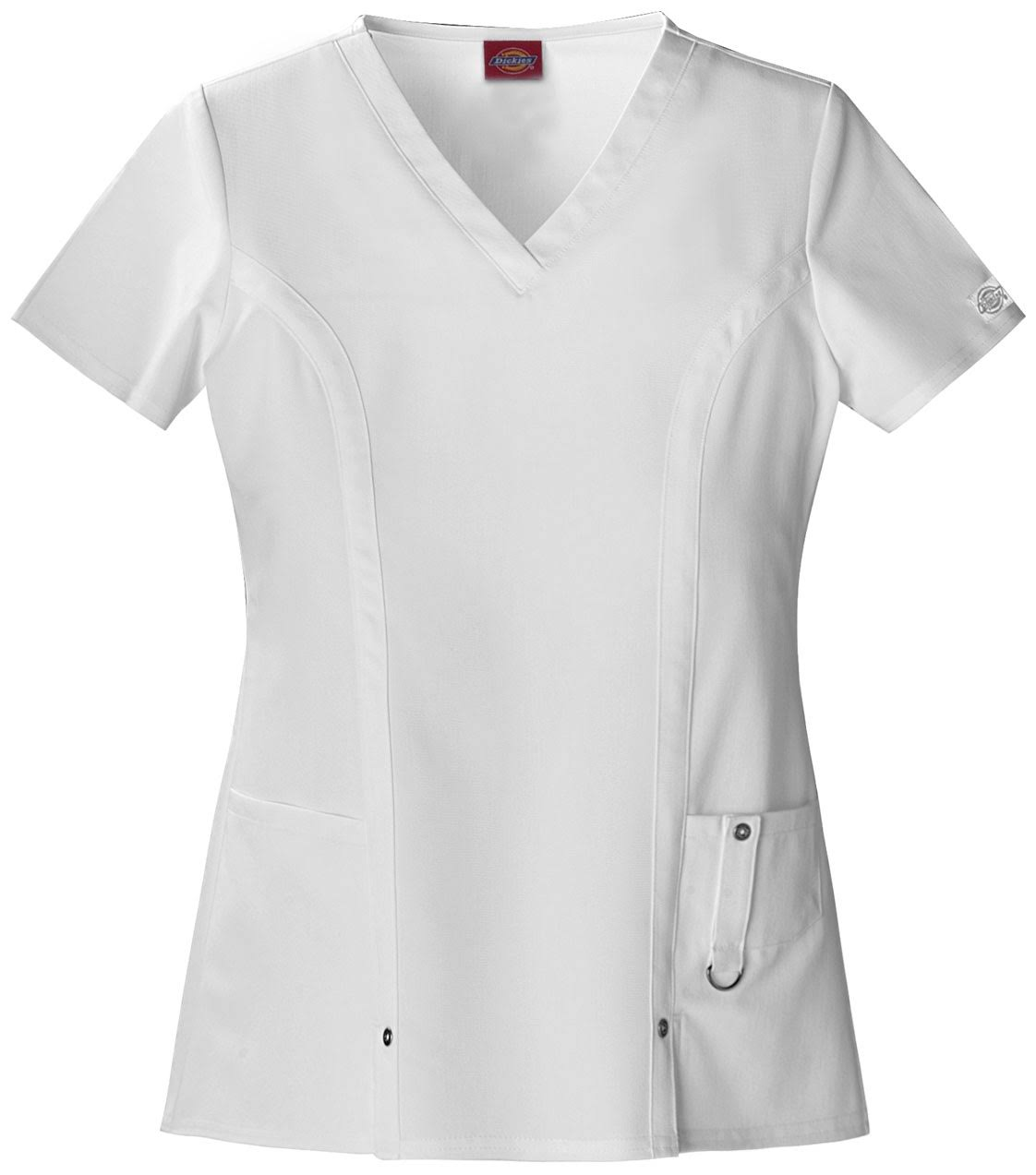 Dickies Xtreme Stretch V-Neck Scrub Top - White XL
