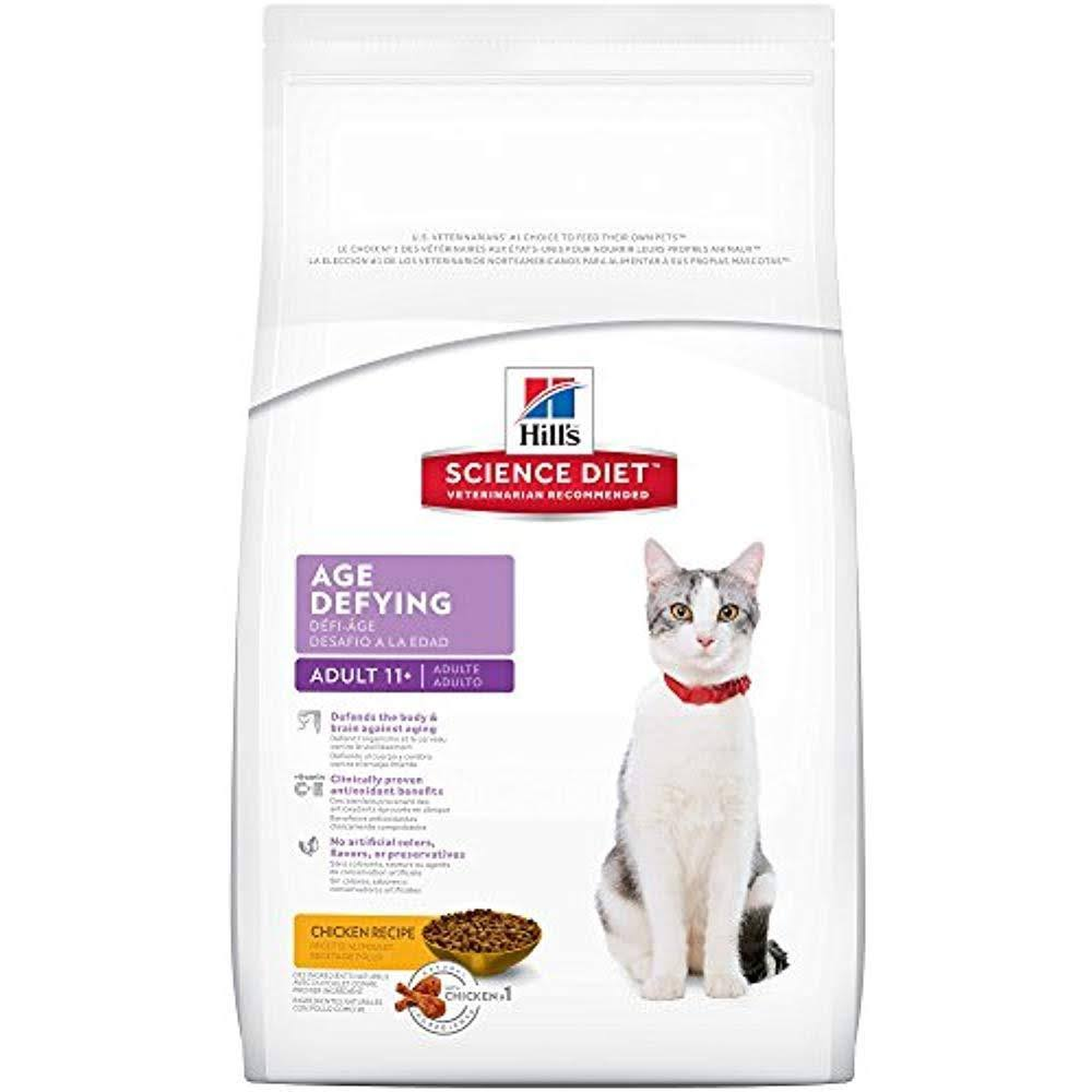 Hill's Science Diet Age Defying Adult 11 Plus Dry Cat Food Bag - 15.5lb