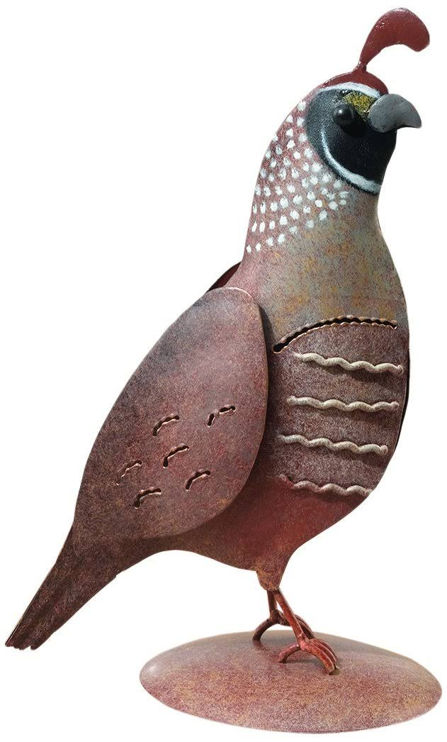 Regal Art and Gift Male Quail Decor - Brown
