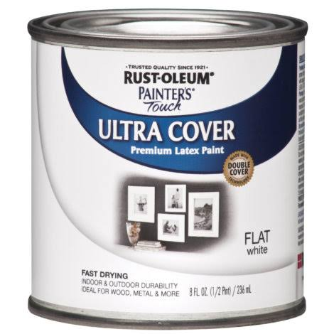 Rustoleum Painters Touch Multi-Purpose Paint - 1/2 Pint, Flat White