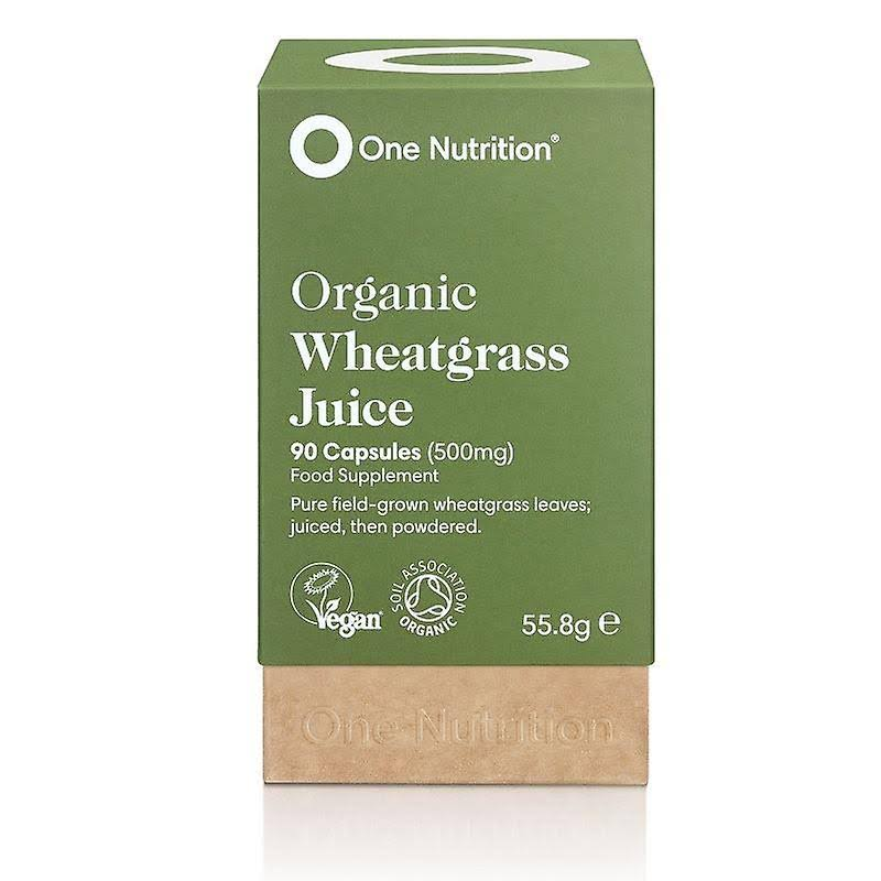 One Nutrition Wheatgrass Juice Capsules - 90 Capsules (500mg)