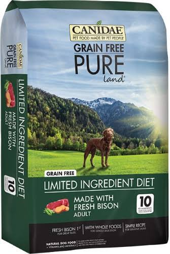 Canidae Pure Land Formula Dry Dog Food 4 lb Fresh Bison