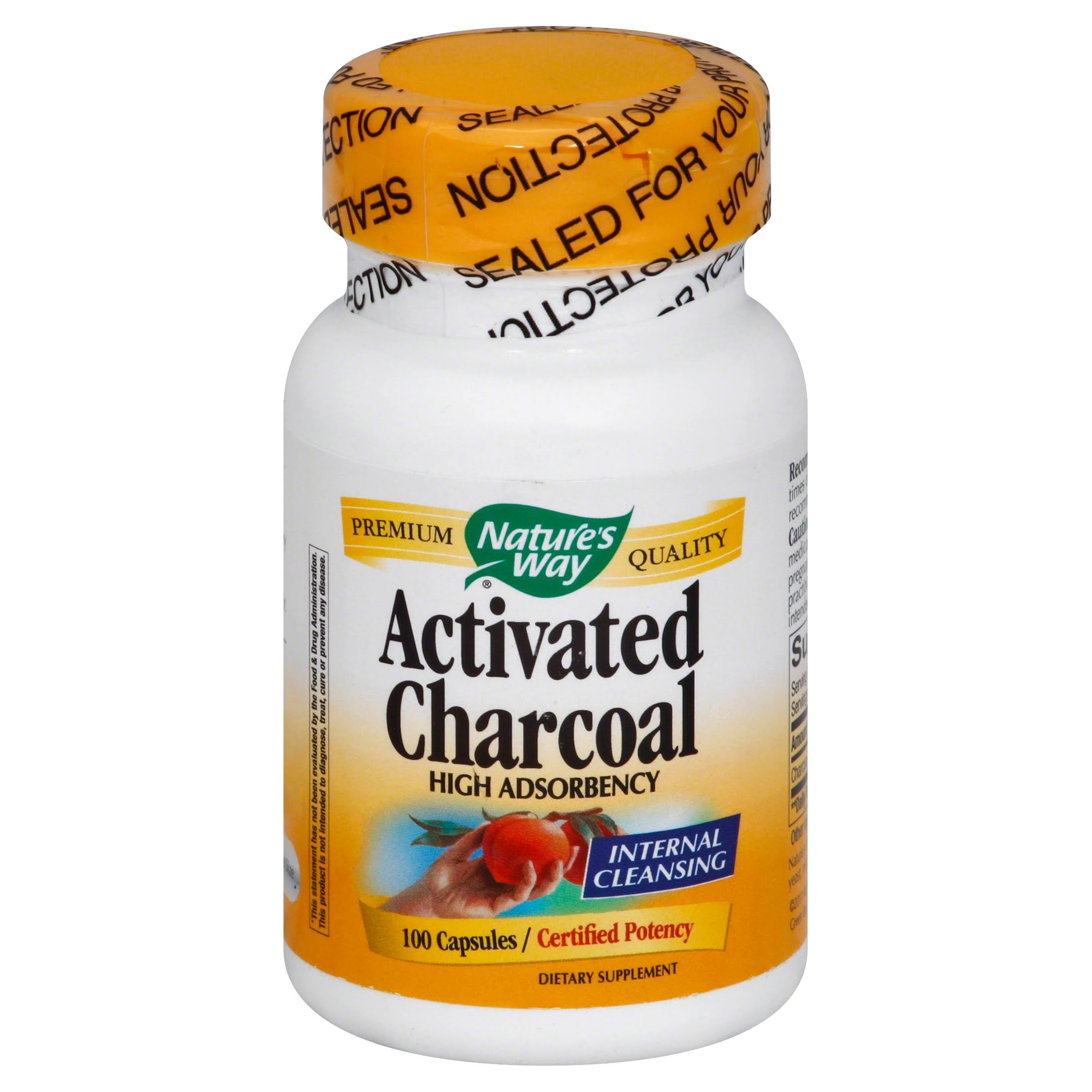 Nature's Way Activated Charcoal - 100 Capsules